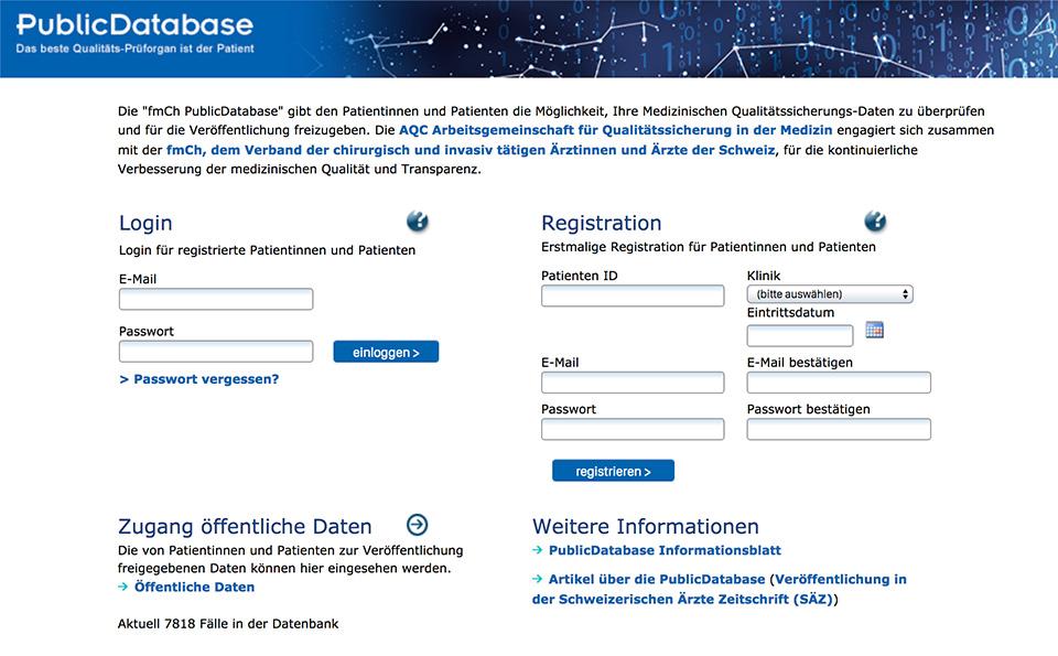 Screenshot AdjumedValidate Homepage