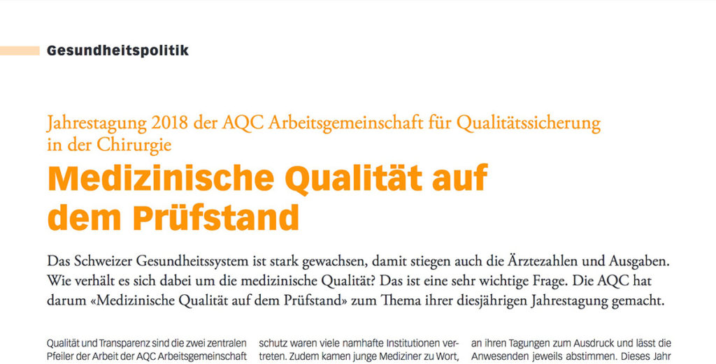 Screenshot clinicum Artikel AQC-Tagung 2018