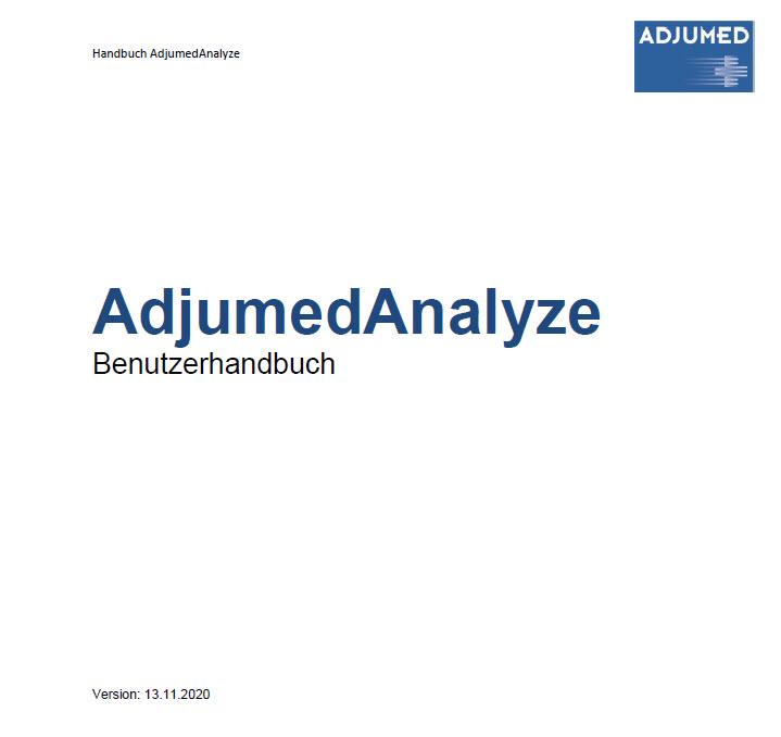 AdjumedAnalyze Benutzerhandbuch