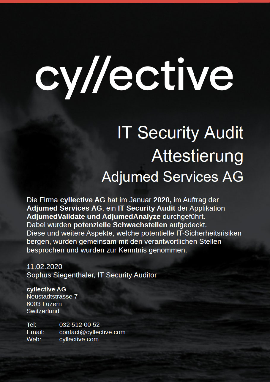 Certificate from the Security Audit 2020