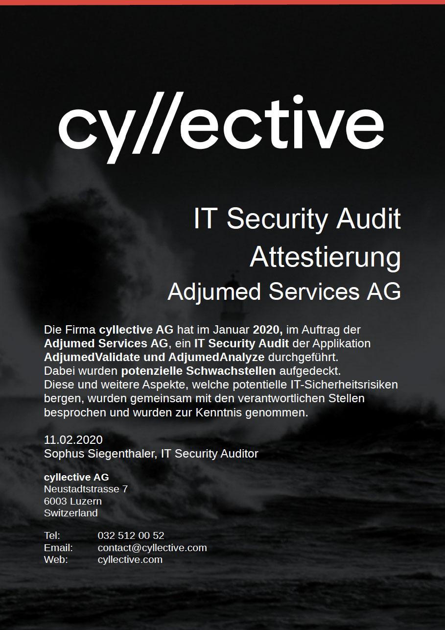 Zertifikat Security Audit 2020