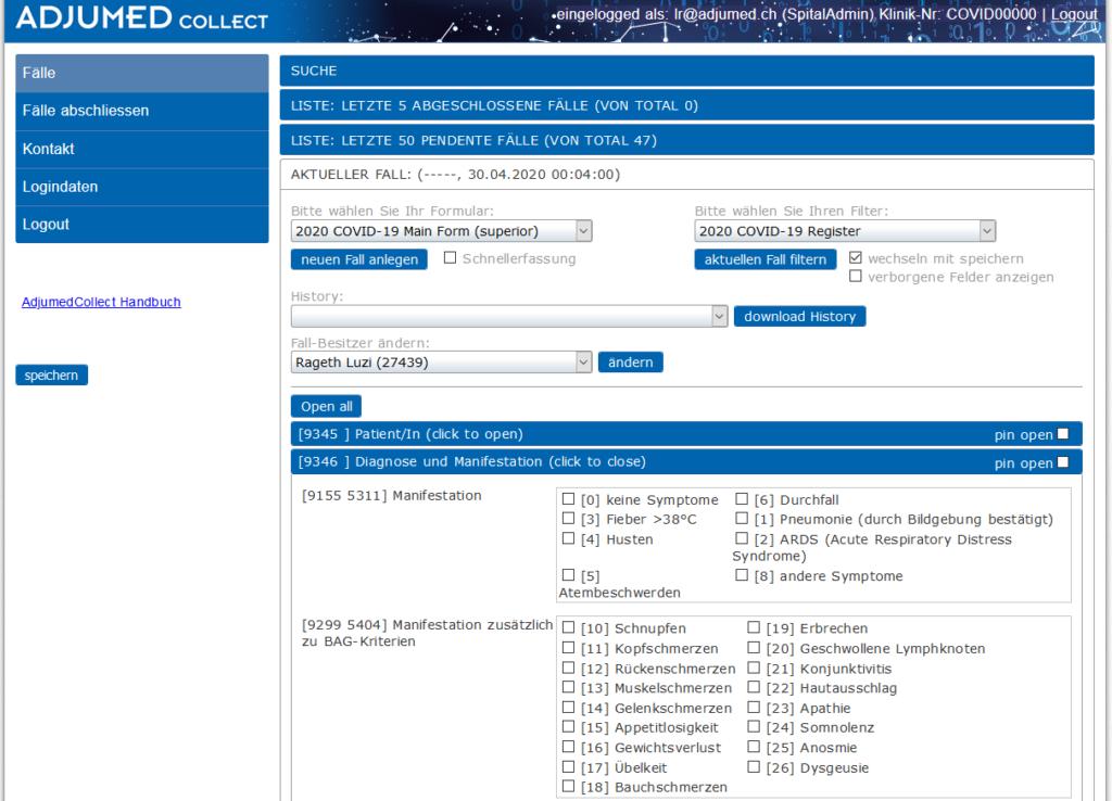 Zusatzfragen fürs Medizinische COVID-19 Register