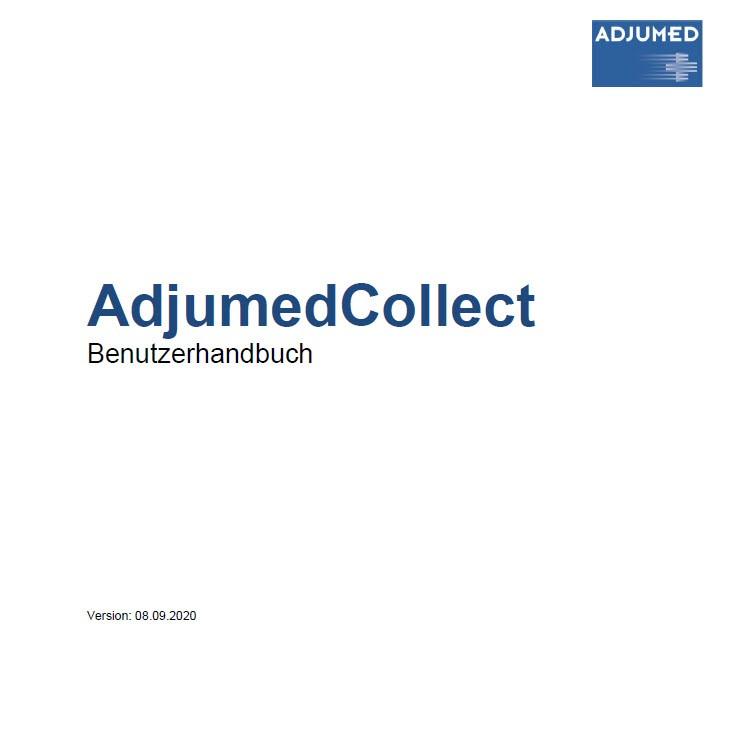 AdjumedCollect Benutzerhandbuch